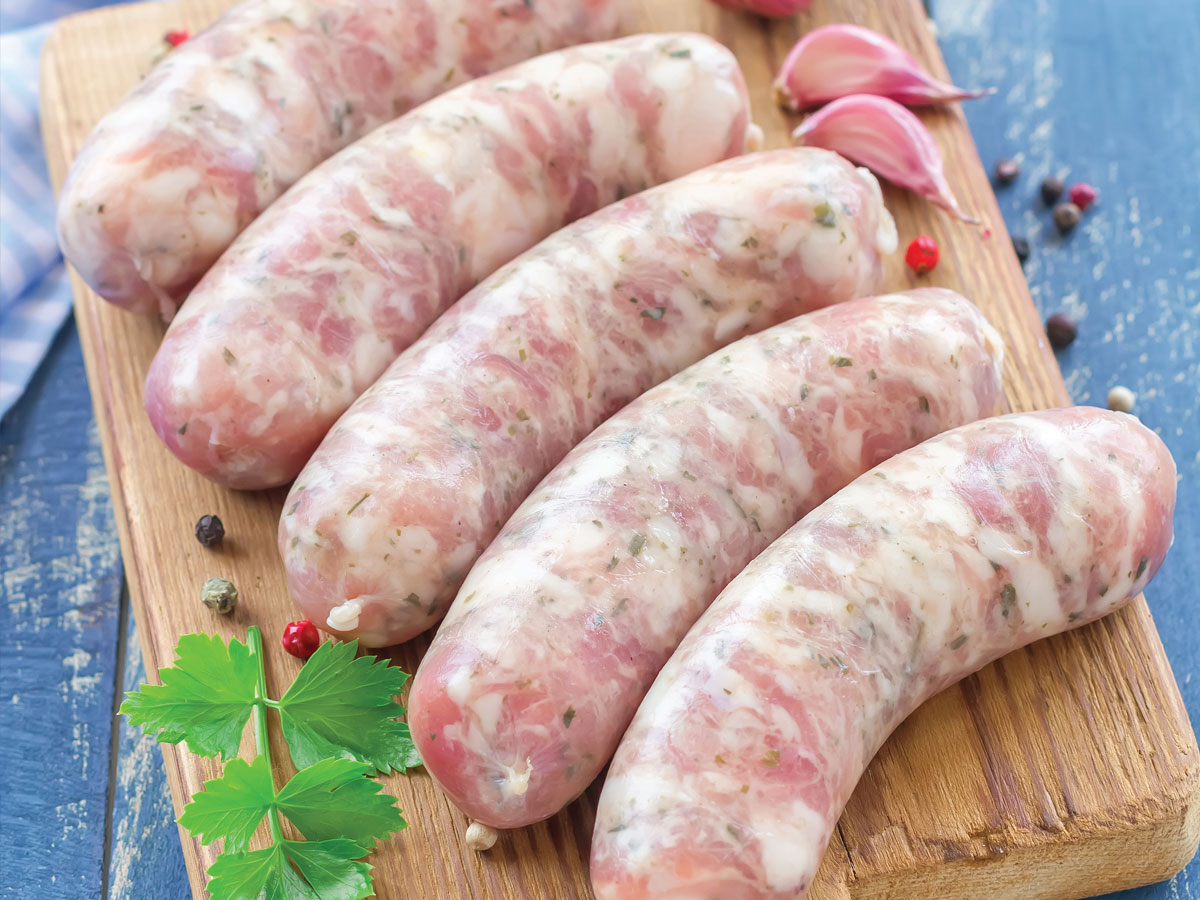 Uncooked sausage image