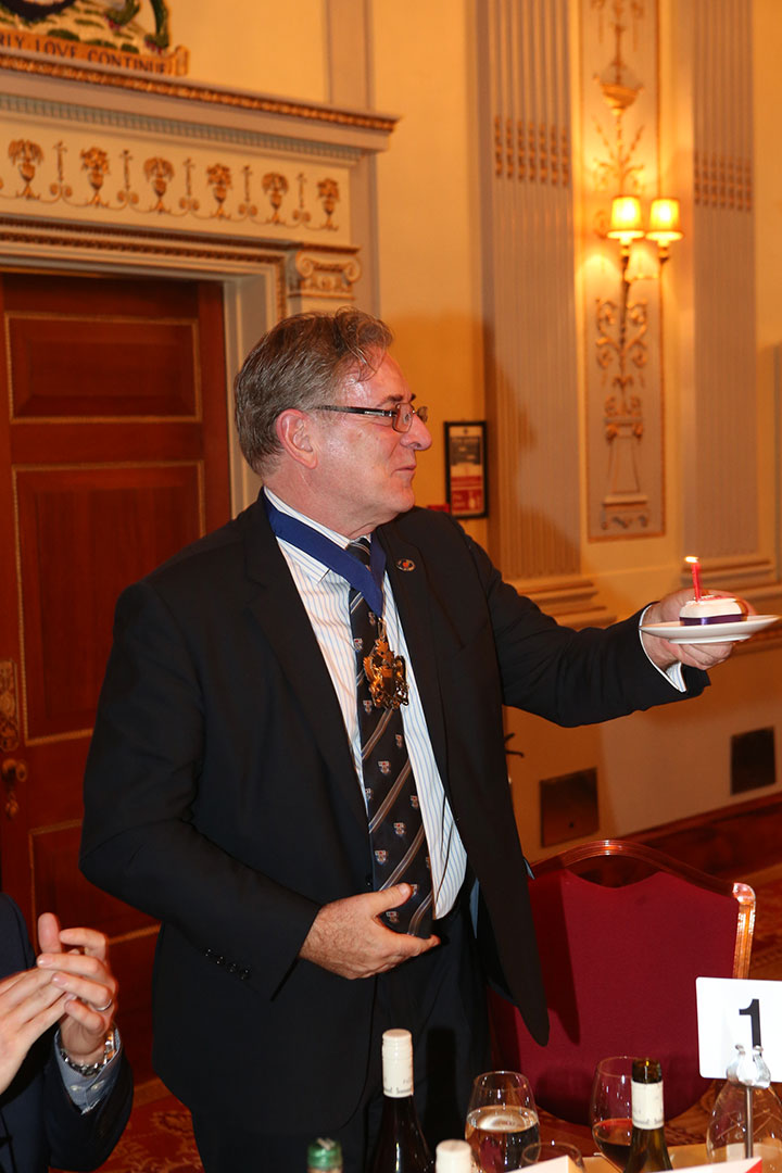 Worshipful Company of Butchers Master Geoff Gillo celebrated his birthday at the event.