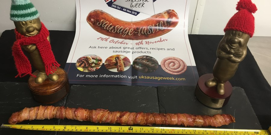 Vaughan Family Butchers launches 22 inch sausage and competition