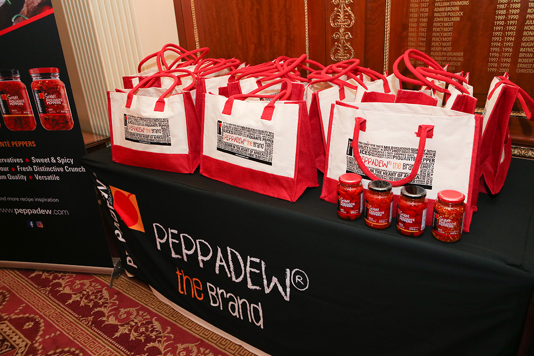 Goodie bags were distributed by Peppadew.