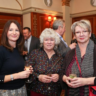 L-R: Sheryl Horne of Institute of Meat, Mary Fisher and Sophie Grigson.