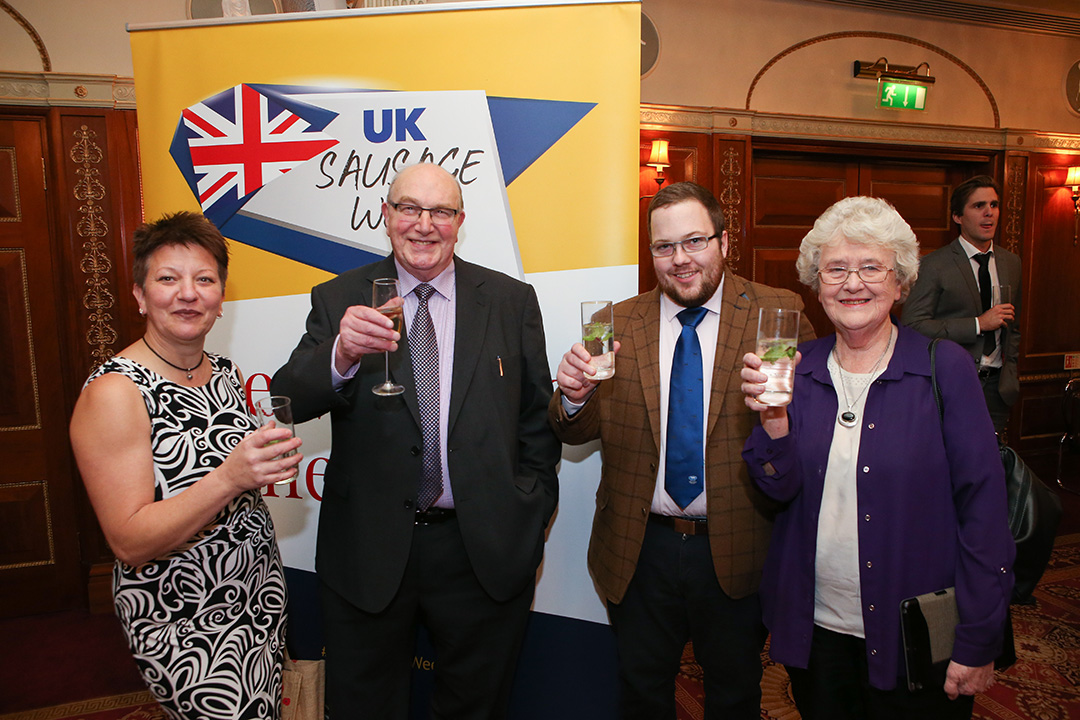 Graeme Sharp of The Scotch Butchers Club (3rd Right) together with fellow guests celebrating UKSW.