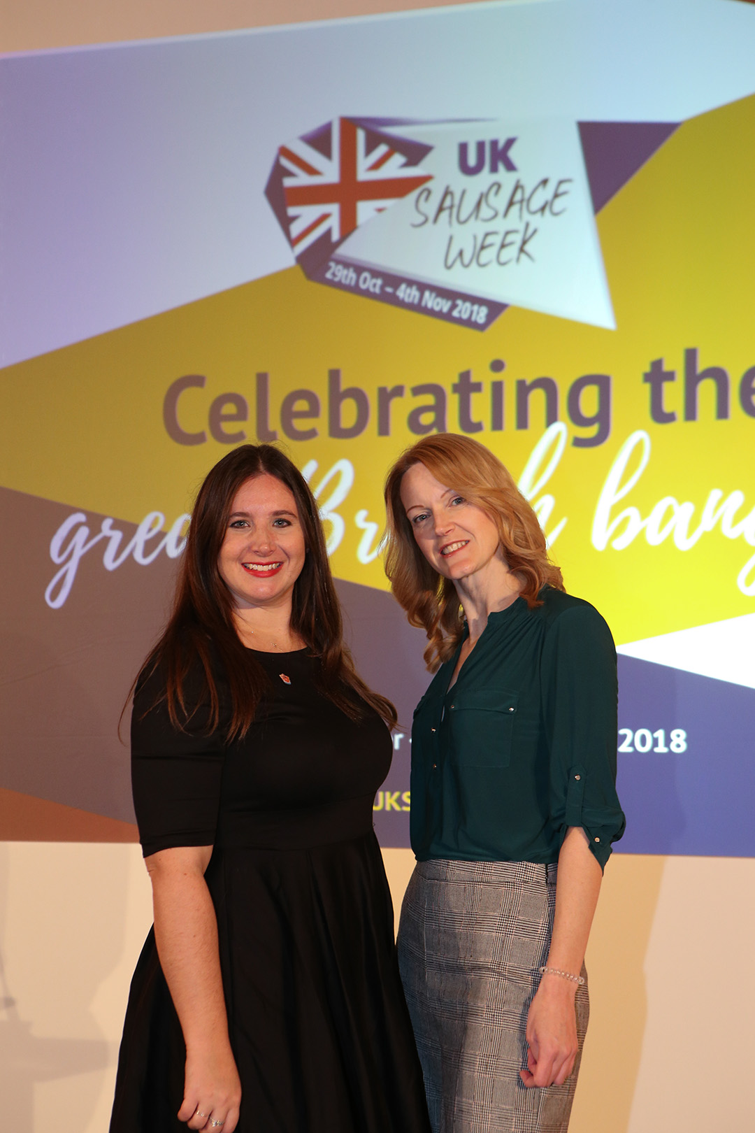 L-R: Meat Management editor Emily Ansell Elfer and UK Sausage Week awards organiser Emma Cash.