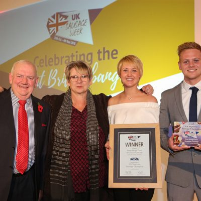 The Frank Parker Butchers family with Sophie Grigson.