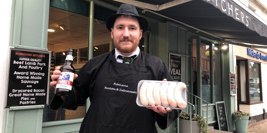 Robinsons Butchers launches special beer banger with brewery