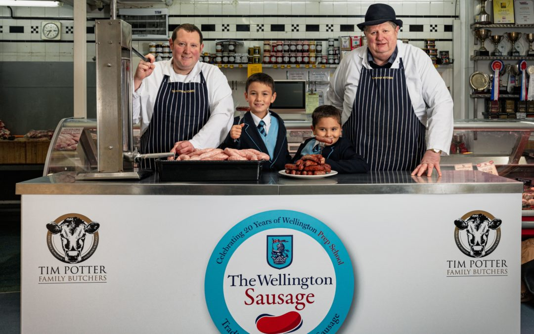 Tim Potter Butchers support local school for UK Sausage Week