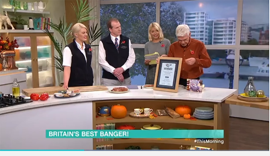 UK Sausage Week Supreme Champion appears on ITV's This Morning