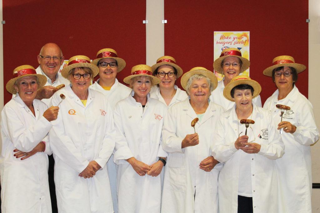 Ladies in Pigs judging UK Sausage Week